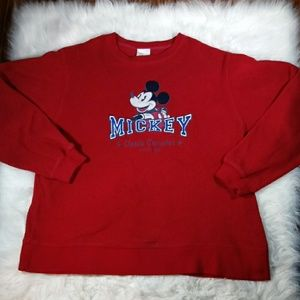 Disney Store Womens Lg Red Mickey Sweatshirt